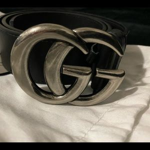 Gucci Silver double G belt